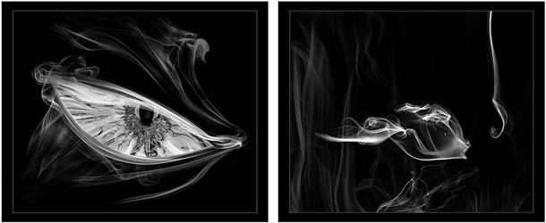 Artista faz incríveis fotos com fumaça de cigarro e cria polêmica