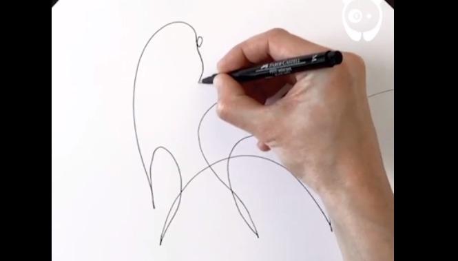 A incrível técnica de fazer desenhos com apenas uma linha