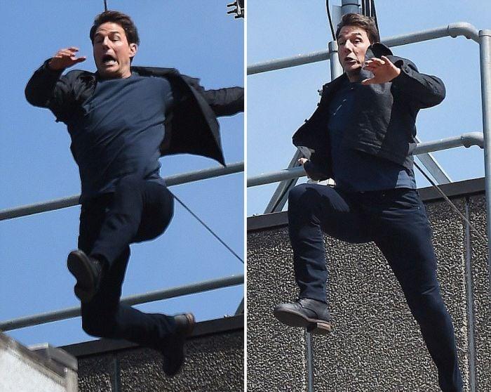 Sem dublê, Tom Cruise fratura o tornozelo durante filmagem; veja a cena