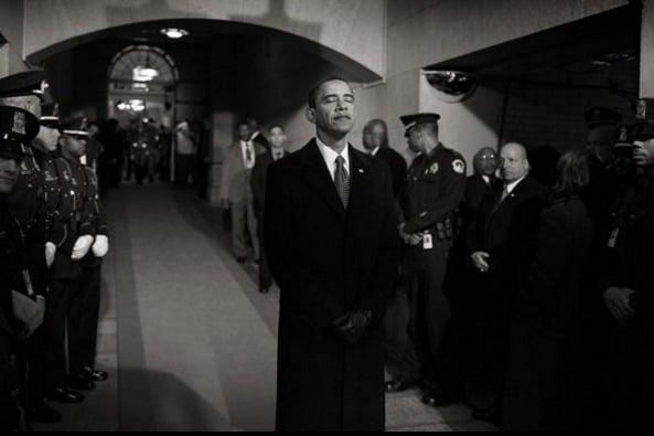 Obama antes de ser empossado como o 44o. presidente dos Estados Unidos, o primeiro negro da história