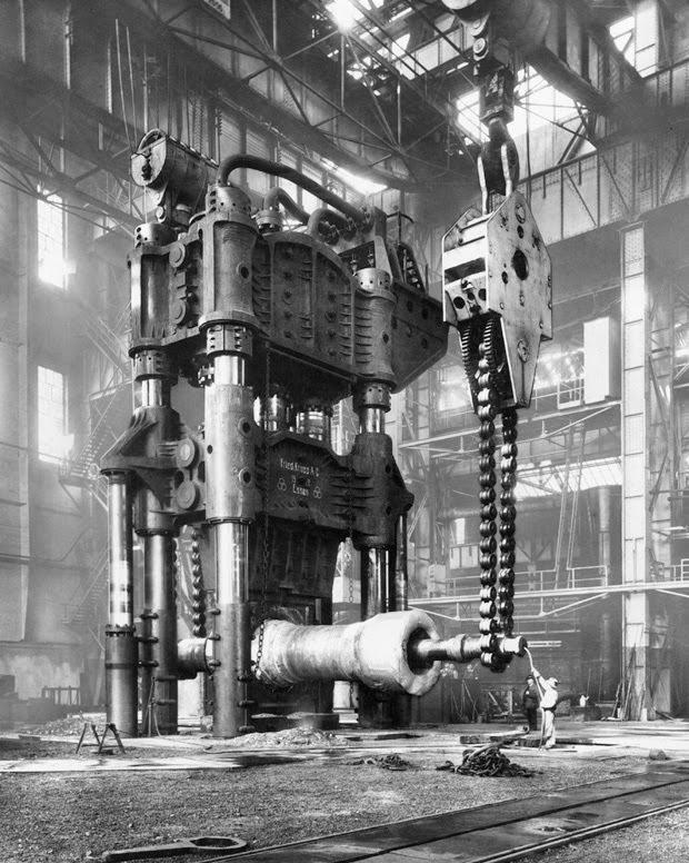 Prensa de forjar hidráulica, Alemanha, 1928