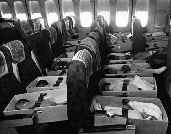 Vários órfãos vietnamitas foram enviados para os Estados Unidos durante a Guerra do Vietnã para que tivessem novos pais. O nome da operação foi batizada de Babylift