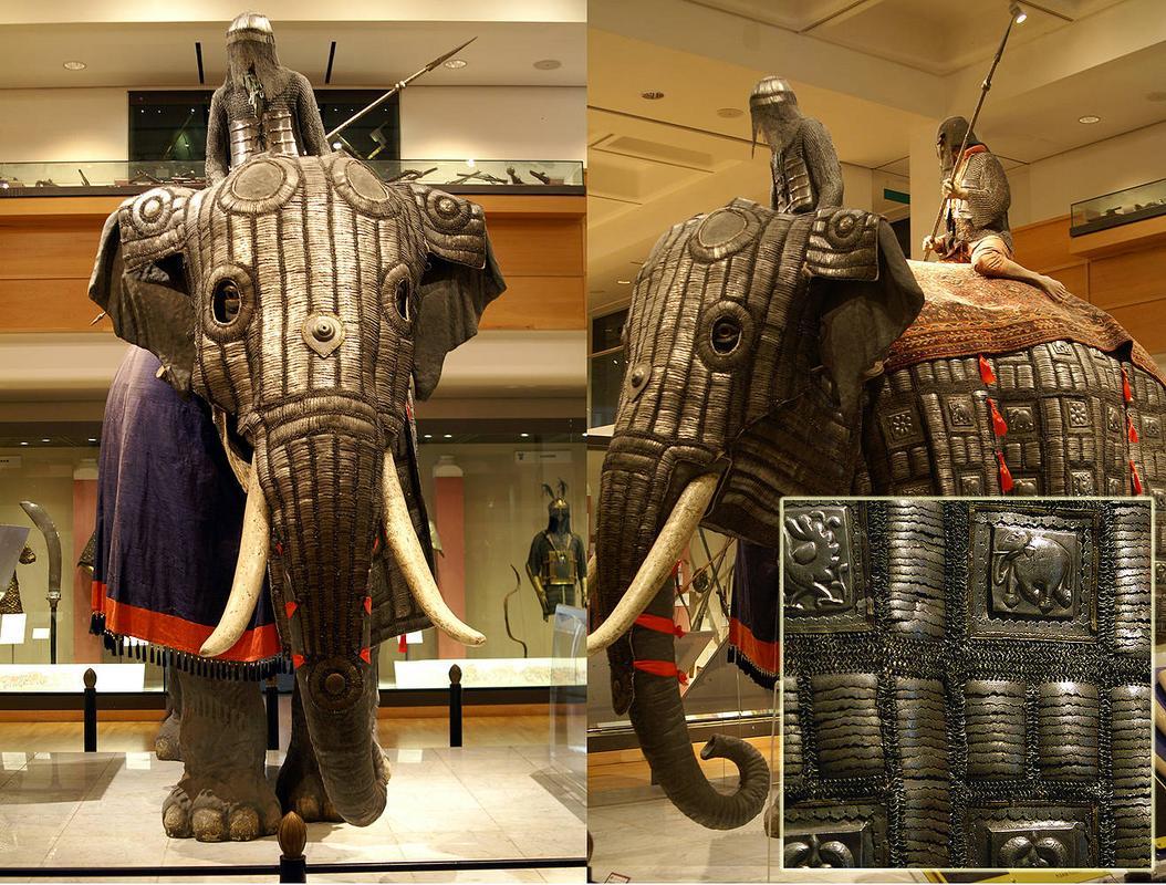 Armadura de guerra dos elefantes