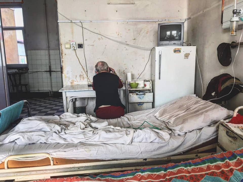 Quarto de hospital na Romênia