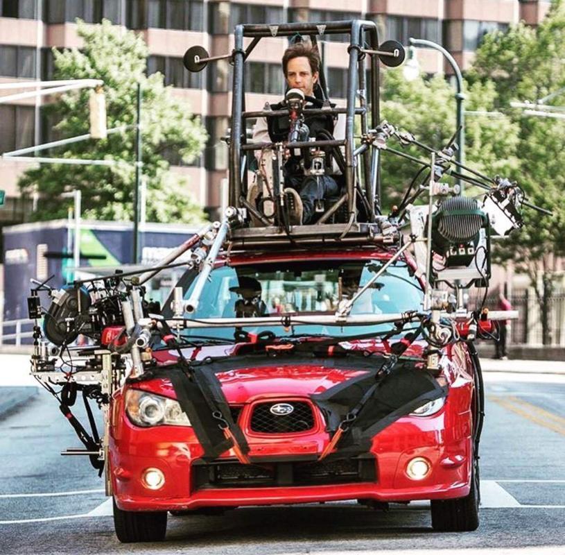 Carro modificado em Baby Drive para permitir que os atores interajam dentro dele