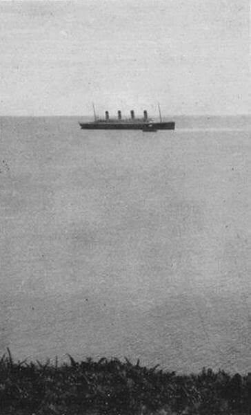 Última foto do Titanic à tona
