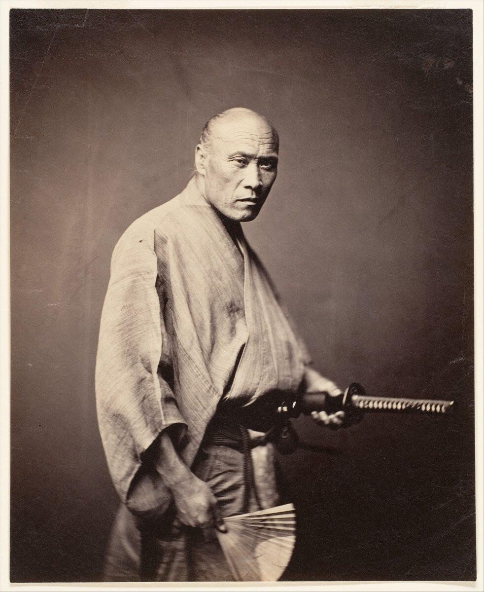 Autêntico samurai japonês, 1864