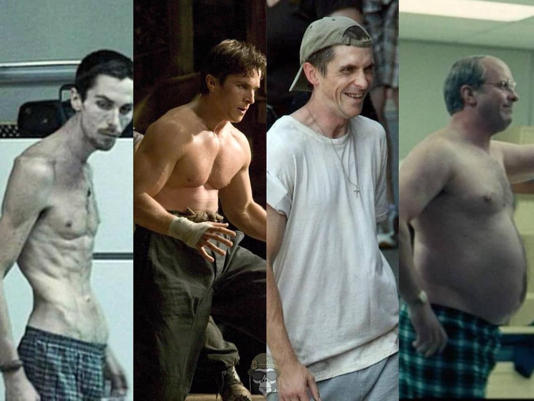 As incríveis transformações do corpo de Christian Bale