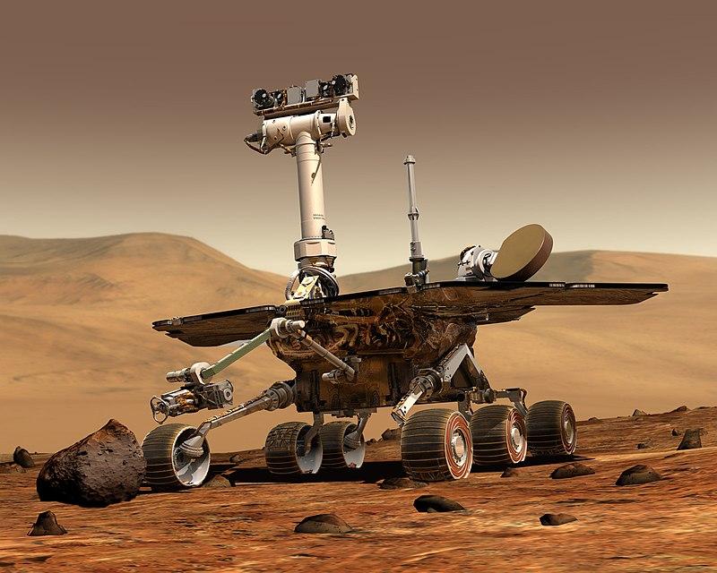 O Mars Opportunity Rover deveria durar apenas 90 dias, mas trabalhou por incríveis 14 anos em Marte. Ele só perdeu contato com  terra depois de ser atingido por uma grande tempestade de areia