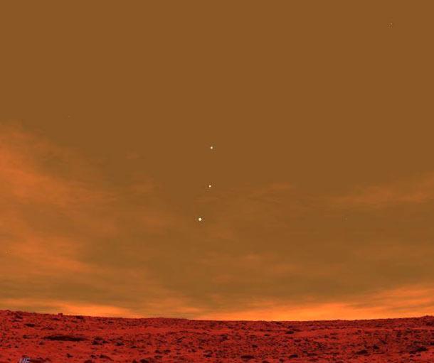 E esta é uma foto da terra tirada pela Curiosity
