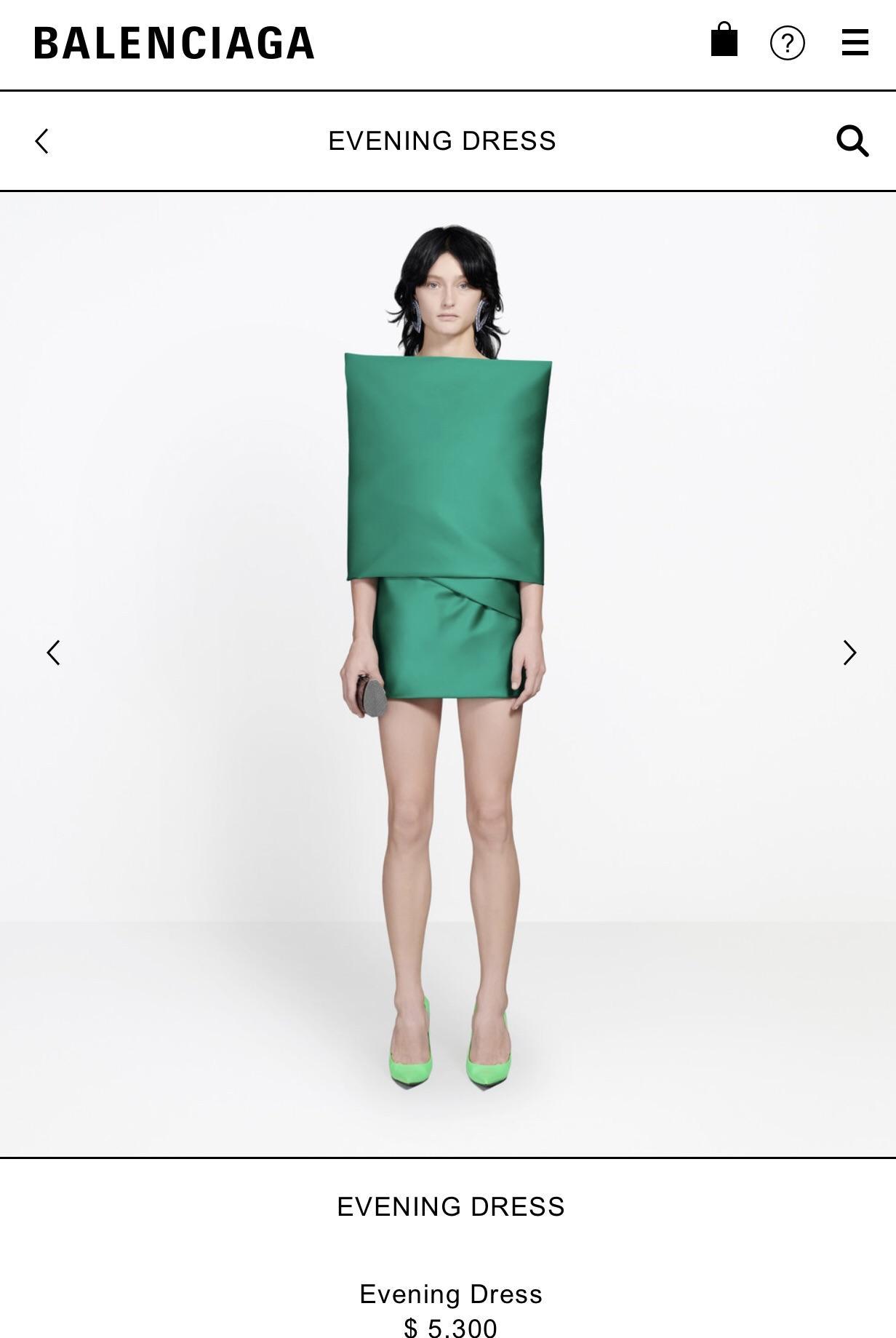 Vestido de 5 mil dólares da Balenciaga