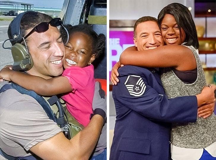 Um homem reencontrou uma garota que ele resgatou durante o furacão Katrina ha 10 anos