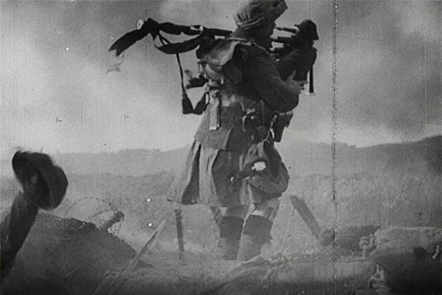Os gaiteiros eram geralmente os primeiros a saírem das trincheiras anunciando o momento da batalha