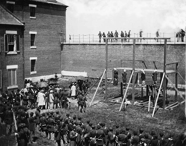 Execução de conspiradores de Lincoln, 1865