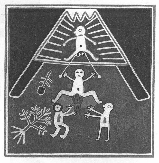 Os indianos de Huichol amarram cordas ao redor dos testículos quando suas esposas estão dando à luz. Quando ela sente contrações, puxa a corda para que o marido compartilhe um pouco da dor como parte da entrada do filho no mundo