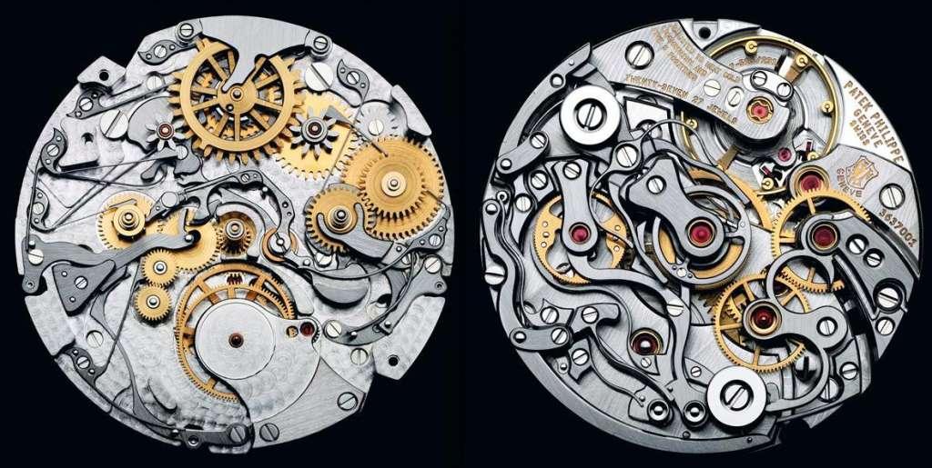 Mecanismo interno de um relógio Patek Phillipe, considerado o melhor relógio do mundo