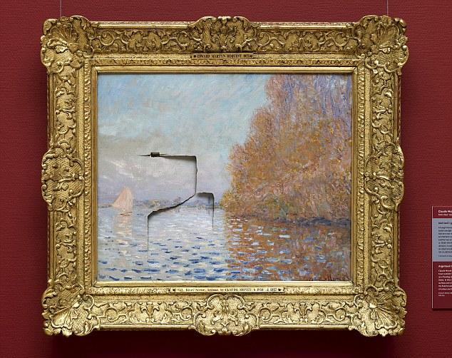 Pintura de 8 milhões de dólares de Monet, após um homem lhe dar um soco