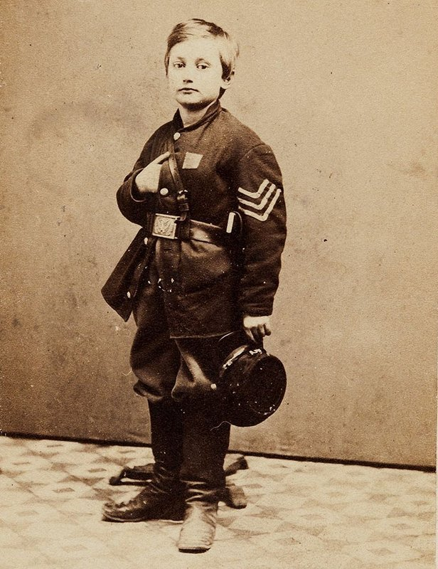 ohnny Clem, o soldado mais jovem do Exército da União. Ele chegou até o posto de general dos Estados Unidos durante a Guerra Civil Americana