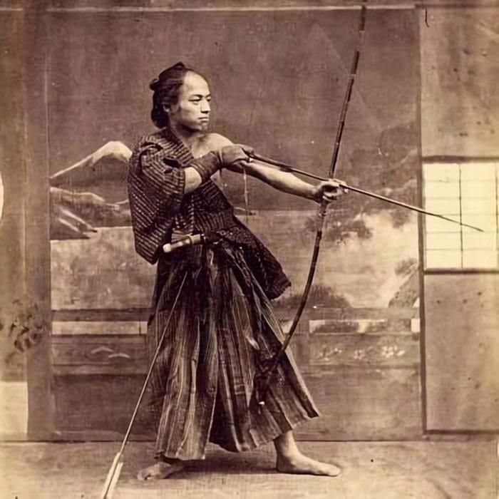 Arqueiro Samurai japonês, 1870