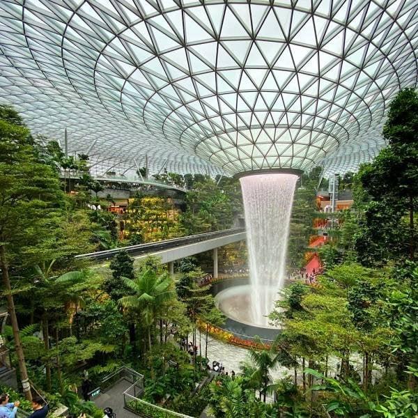 O aeroporto Changi, de Cingapura, possui uma florestar inteira dentro dele