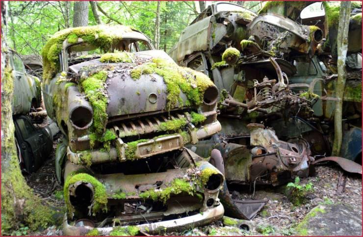 Cemitério de carros na Suécia