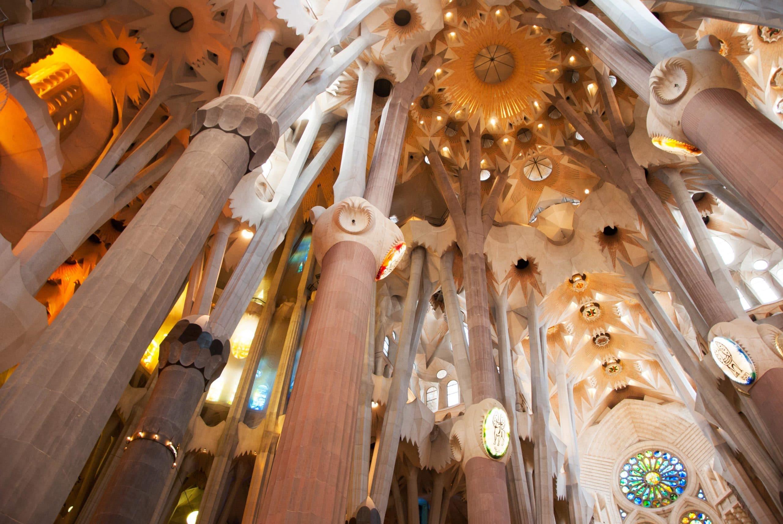 Teto da Sagrada Família, em Barcelona