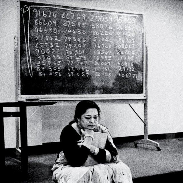 Shakuntala Devi, também conhecida como