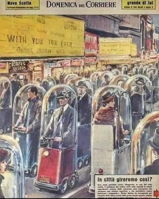 Revista italiana de 1962 mostrando como o mundo seria em 2022