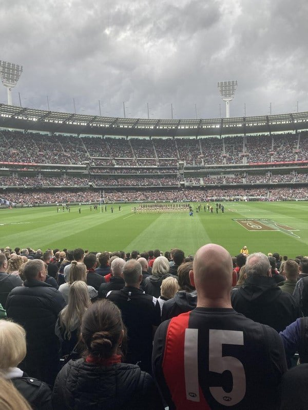 Partida de rúgbi em Melbourne que reuniu 85 mil torcedores - maior público do mundo desde o início da pandemia. O evento foi realizado em março de 2021, pois o país estava com fronteiras fechadas para estrangeiros e menos de 30 mil infectados e 909 mortes registradas
