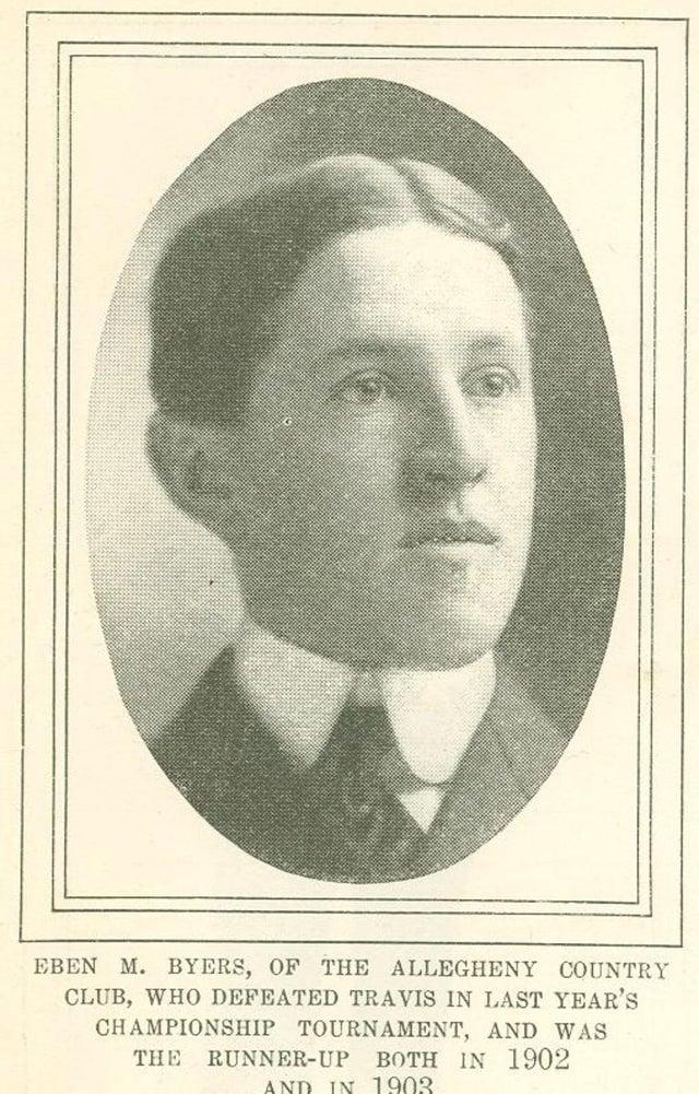Este é Eben Byers, um rico socialite americano, jogador de golfe, que morreu em 1932. Em 1927, seu médico recomendou que ele bebesse água com rádio durante um período de três anos. Byers bebeu um total de 1400 garrafas, resultando na queda da sua mandíbula inteira e formação de buracos em seu crânio. Em 1949, o inventor do remédio foi encontrado morto com câncer na bexiga. Mesmo 20 anos após sua morte, seu corpo ainda permanecia quente, resultado da contaminação radioativa a que foi submetido