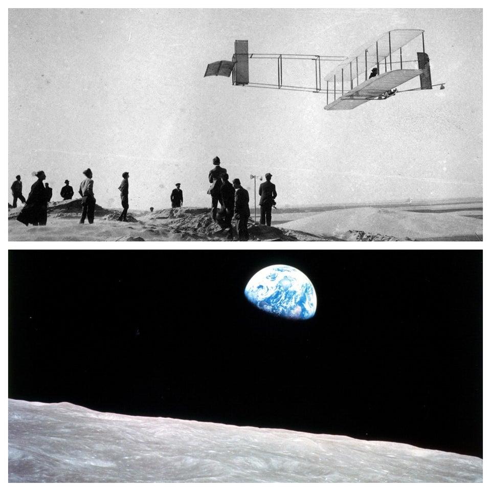 65 anos (e quatro dias, para ser mais exato) se passaram entre o primeiro voo dos irmãos Wright e a ida da tripulação da Apollo 8 para a lua. Agora, imagine onde podemos chegar daqui a 65 anos