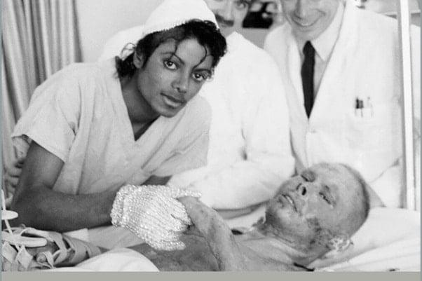 Em 1985, Michael Jackson doou US$ 1,5 milhão para o Brotman Memorial Hospital para estabelecer o Michael Jackson Brun Center. Foi o mesmo local onde ele foi tratado após sofrer queimaduras graves durante as filmagens de um comercial para a Pepsi
