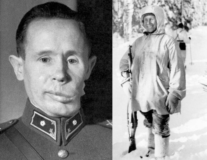 Simo Häyhä, soldado finlandês, apelidado de