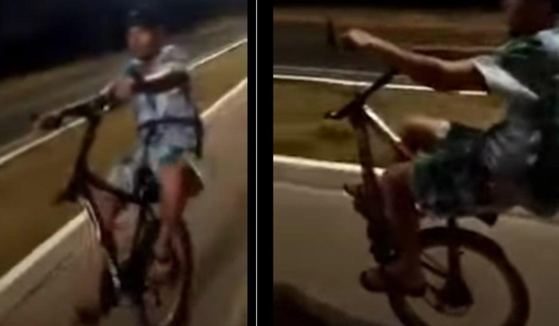 como não empinar bicicleta com uma roda