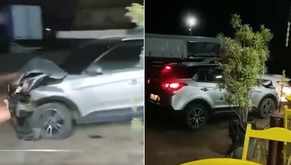 Mulher descobre traição e destrói Hilux do marido com próprio veículo