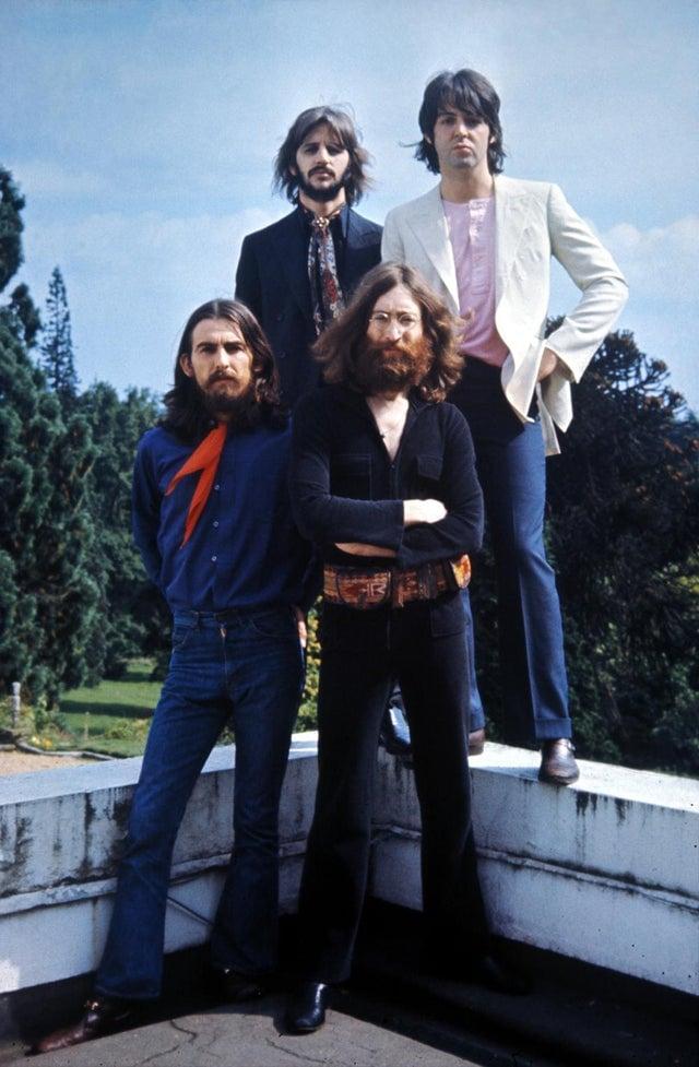 Os Beatles na sua última sessão de fotos, em 1969.