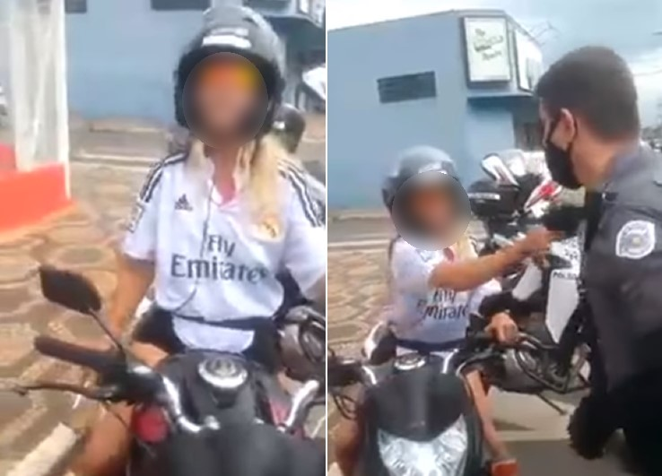 Mulher é flagrada xingando policiais durante blitz no interior de SP
