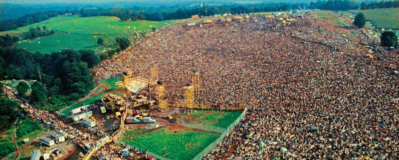 O outro lado de Woodstock, em 1969.