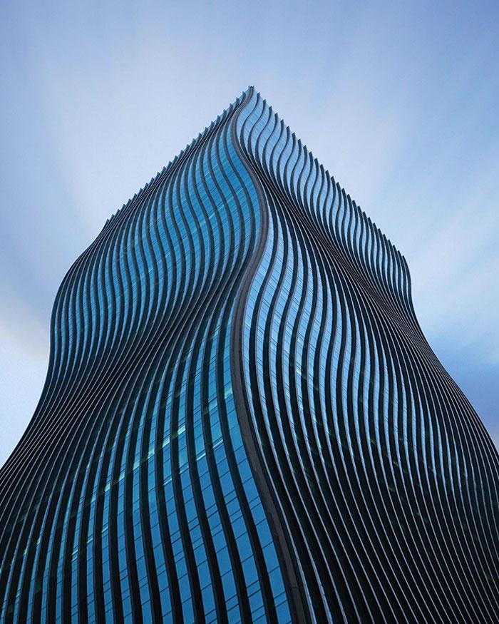 Edifício ondulado denominado Torre GT, em Seul.