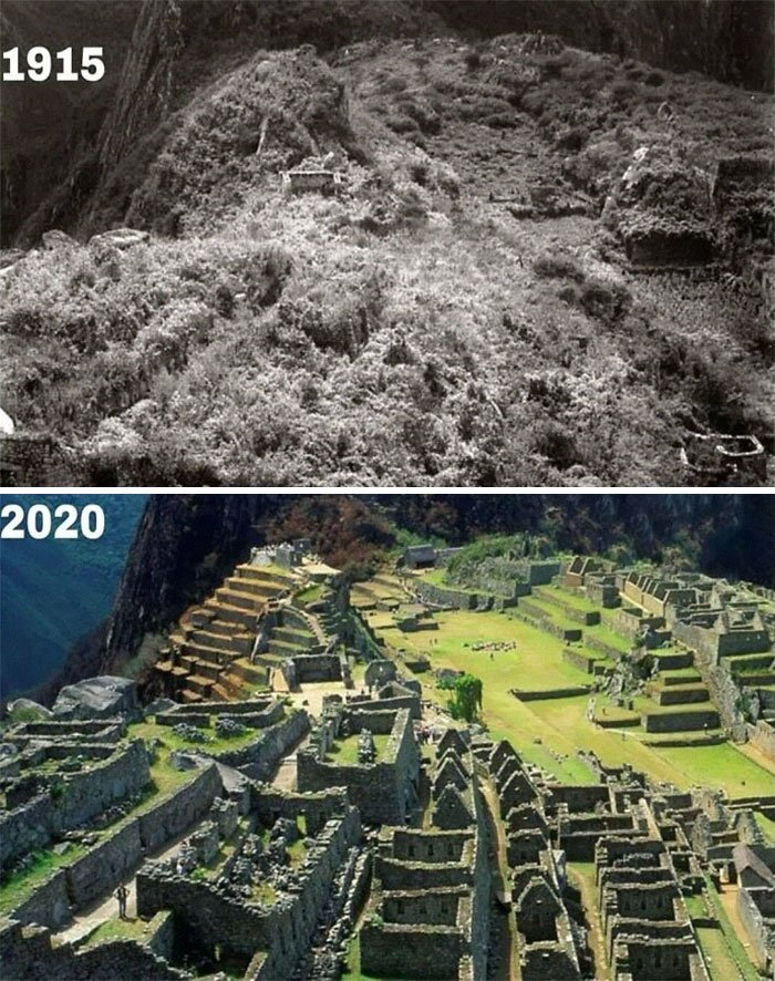 Machu Picchu, Peru, 1915 e 2020