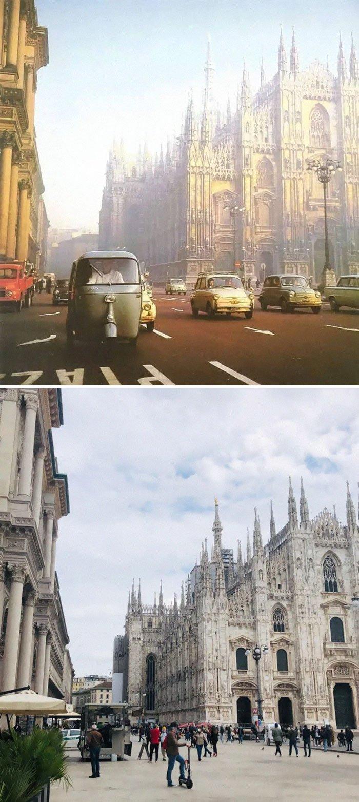 Milão, Itália, 1950 e 2021