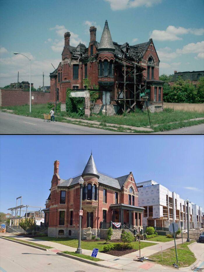 Casa de aparência incrível restaurada em Detroit - 1993 e agora