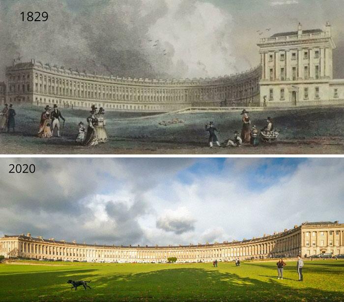 The Royal Crescent, Reino Unido, 1829 - 2020