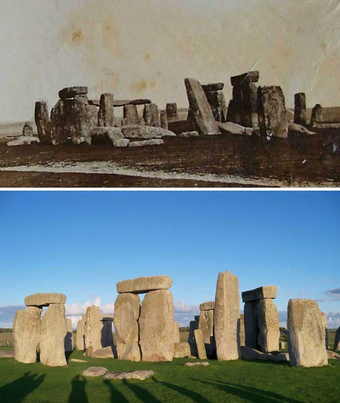 Stonehenge: 1877 e 2019.