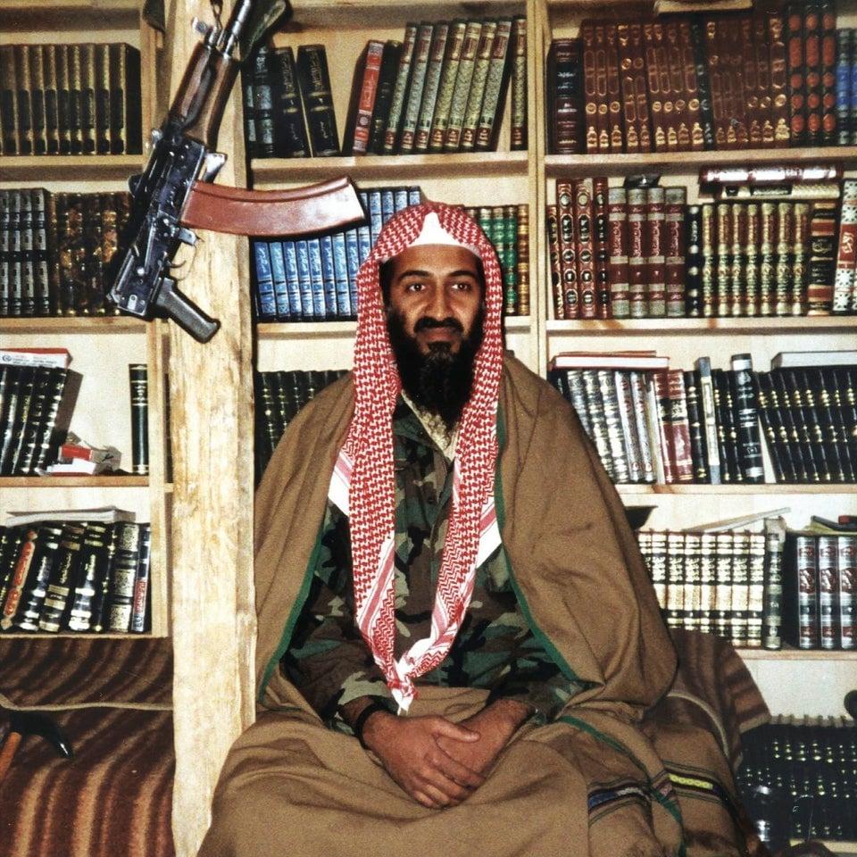 Osama Bin Laden no Afeganistão, janeiro de 2001.